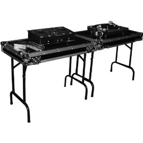 Marathon Flight Ready Case MA-Tablev2 Double Universal Fold Out DJ Table (36W 21D 30-InchH Per Table) with Low Profile Wheels