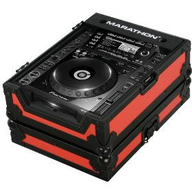 Marathon Flight Ready MA-CDJ2000Blkred Red - Black Series - Case for Pioneer CDJ2000, And All Other Large Format CD/Digital Turntables