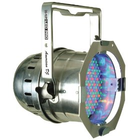 American DJ Par 64 LED Pro Polished/Chrome DMX RGB 10mm LEDs
