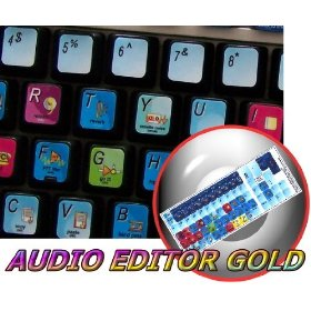 NEW AUDIO EDITOR GOLD KEYBOARD STICKER FOR DESKTOP, LAPTOP AND NOTEBOOK