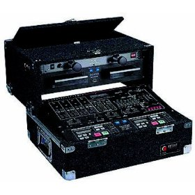 Odyssey CS4800 Carpeted Slide Style Combo Case With An 8u Slanted Rack And A 4u Top Vertical Rack