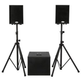 Gemini XTR-500 Complete Powered Speaker System (2 Loudspeakers, 1 Subwoofer)