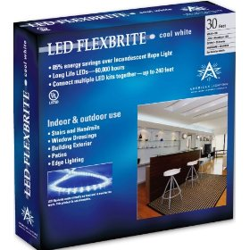 American Lighting LR-LED-CW-30 Commercial-Grade LED Rope Lighting Kit, Cool White, 30-Foot