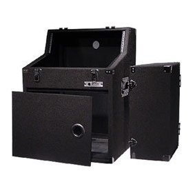 Odyssey CXS368 Triple Combo Carpeted Rack: 3u Top Slant, 6u Middle Slant, 8u Bottom Vertical