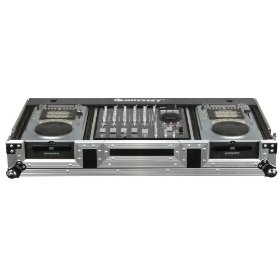 Odyssey FZ12CDIW Flight Zone Dj Coffin With Wheels For A 12 Mixer And Two Medium Format Cd Players