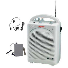 Audio2k Awp6040 25watts Portable All-in-one Wireless Pa System with Recharge Battery