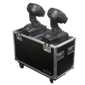 Odyssey FZMH250SX2W Flight Zone Small Dual 250 Style Moving Head Ata Case With Wheels