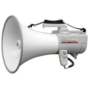 TOA ER-2230W Shoulder Megaphone Detachable Hand-Held Mic with Volume Control and OnOff Switch