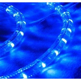 Blue 30 FT 110V-120V LED Rope light Kit, 1.0