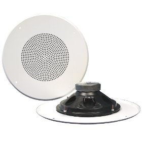 Pure Resonance Audio 825W-GS Ceiling Speaker 25 Watt 8 Ohms 8 Inch Coax, Grille Mounting Screws