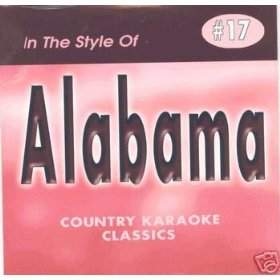 ALABAMA Country Karaoke Classics CDG Music CD