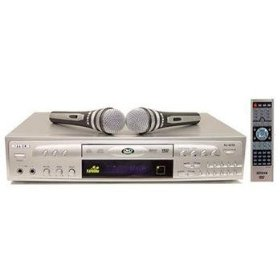 RJ Tech RJ-4200 Professional Karaoke Player with 2 Microphones, Silver