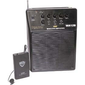 Nady WA 120 Portable PA System with Wireless Omni-Lavalier Mic, Channel A