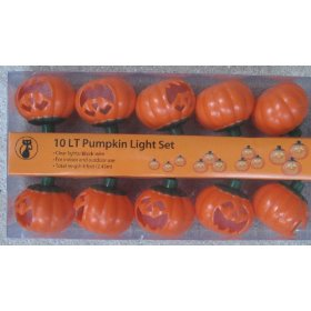10-Light Pumpkin Light Set