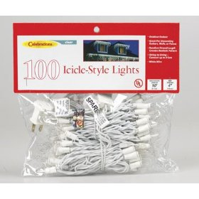 100 Mini Icicle Lights Up To 3 Sets Can Be Strung