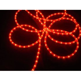 100' Red Commercial Grade Christmas Rope Light On Spool