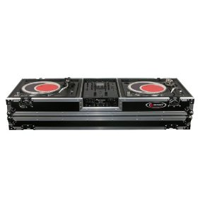 Odyssey FZDJ10W Flight Zone Ata Dj Coffin With Wheels For A 10 Mixer And Two Turntables In Standard Position