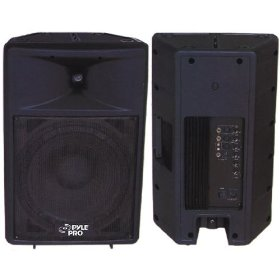 PYLE-PRO PPHP1592A - 1000 Watt Powered 15'' Two-Way Plastic Molded Loudspeaker