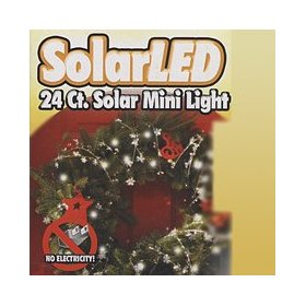 Solar Powered Outdoor Wreath Lighting Kit (24 LED)