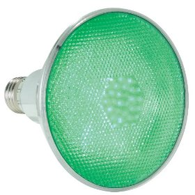 Lamplite LL-Par38LEDG Green LED Flood Lamp Medium Screw Base