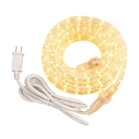 AmerTac RW12BAM 12-Feet 25.2-Watt White Rope Light Kit, Clear