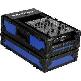 Marathon Flight Ready Blk Series Case MA-10Mixblkblue - Black Series - 10-Inch DJ Mixer Case Fits Large Format 10-Inch Size Mixers (Blue)