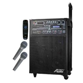 Audio 2000's AKJ7808 Singer's Power Recordable All-In-One Karaoke / PA System