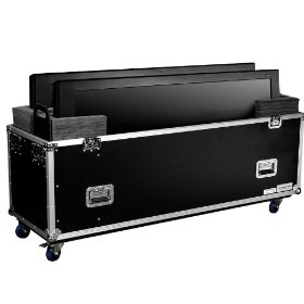 Marathon Flight Ready Case MA-2Plasma63W Universal Case With Casters for Two (2) Plasma Monitors Up To 63 Inch