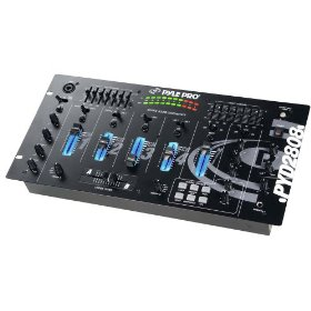 Pyle-Pro PYD2808 - 19'' Rack Mount 4 Channel Professional Mixer with Digital Echo and SFX