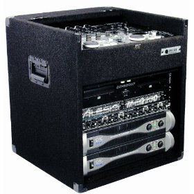 Odyssey CXE808 Econo Carpeted Combo Rack With Surface Mount Hardware: 8u Top, 8u Bottom
