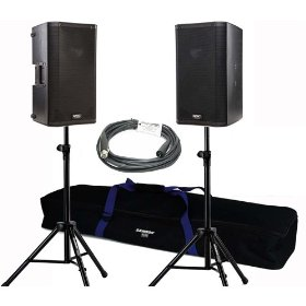 2 QSC K10 1000 Watt Powered Speakers Bundle