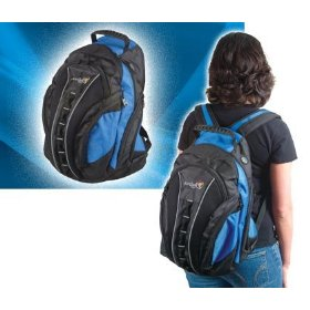 Arriba Cases LS-500 Blue and Black Deluxe padded Backpack