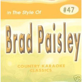 BRAD PAISLEY Country Karaoke Classics CDG Music CD