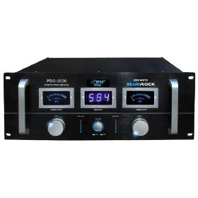 Pyle-Pro PDG2000 Blue Rock 2000 Watt Professional Stereo Power Amplifier (19-inch Rack Mount)