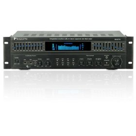 Brand New for 2009! The Technical Pro Rx-b113 Black Integrated 1,500 Watt Professional Amplifier with Built-in 10 Band Graphic Equalizer and Much More