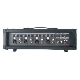 Phonic Powerpod 410 100W 4-Channel Powered Mixer with Variable Delay