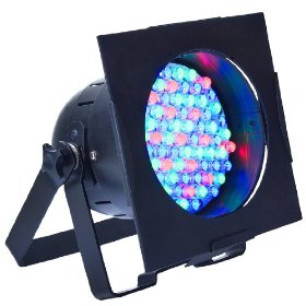 American DJ 38B LED Pro Black Par 38 RGB Color Mixing LED Par Can