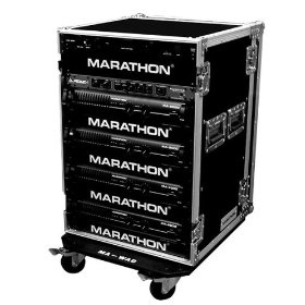 Marathon Flight Ready Case MA-16Uad21W 16U Amplifier Deluxe Case - 21-Inch Body Depth With Wheels