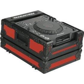 Marathon Flight Ready MA-CDJblkred Red Black Series Case for Pioneer CDJ1000/CDJ800, Denon Dn-S3500/Dn-S3700 and Large Format CD/Digital Turntables