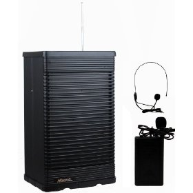 Hisonic HS321-BP Portable PA System with Wireless Microphone, Black