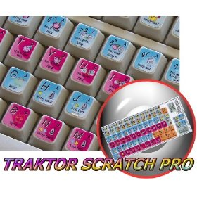NATIVE INSTRUMENTS TRAKTOR PRO KEYBOARD STICKER FOR DESKTOP, LAPTOP AND NOTEBOOK