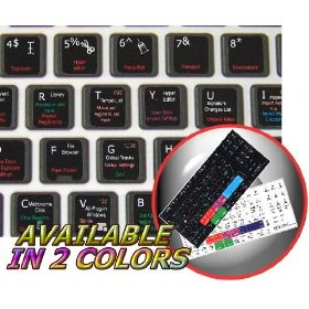 NEW APPLE LOGIC 8 KEYBOARD STICKER ON BLACK BACKGROUND FOR DESKTOP, LAPTOP AND NOTEBOOK