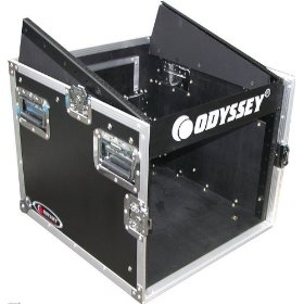 Odyssey FZ1008 Flight Zone Ata Combo Rack: 10u Slant, 8u Vertical