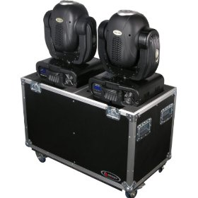 Odyssey FZMH250X2W Flight Zone Standard Dual 250 Style Moving Head Ata Case With Wheels