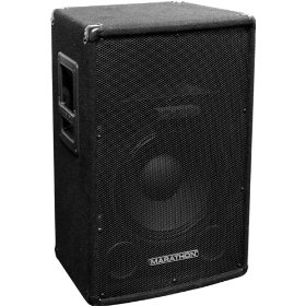 Marathon Dj-1202 Compact Single 12-inch Two Way Trapezoid Loud Speaker