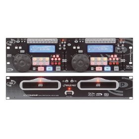 Pyle-Pro PDCD940MP Professional Dual CD / MP3 Player with Scratch Effect, Pitch Control, and LCD Display (19-inch Rack Mount)