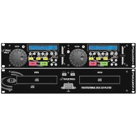 Pyle-Pro - 19'' Rack Mount Professional Dual CD Player With Jog Dial