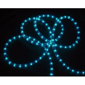 18' Vibrant Blue Indoor/Outdoor Christmas Rope Lights