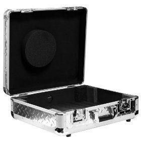 Marathon Elight Series MA-Ett Sil-Dia Turntable Case Holds 1 1200 Style Turntable Light Duty - Silver Diamond