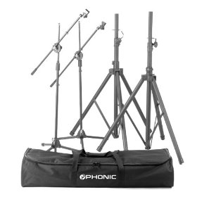 Phonic SK2 Deluxe Speaker Stand Package